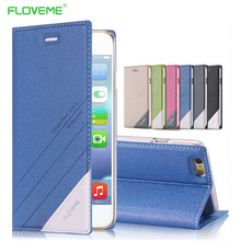 FLOVEME For iPhone 5s 5 Original Brand Luxury Flip Leather Case for iPhone 5 S SE Front Stand Card Holder Cases Shockproof Cover