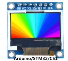 0.96 inch 7PIN SPI 262K TFT LCD Display Color Screen Module ST7735S Drive IC 128*64(China)