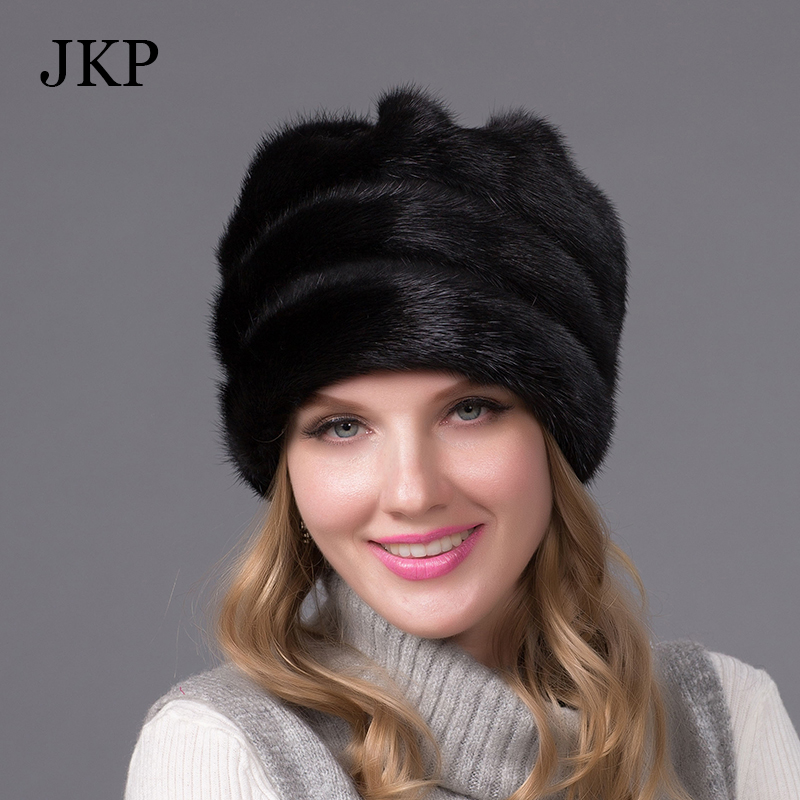 Winter fur hats for women real mink fur hat with fur pom poms and diamond accessories 2016 fashion high-end women brand beanieОдежда и ак�е��уары<br><br><br>Aliexpress