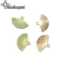 10pcs/lot 25*17MM New Retro Gold Zinc Alloy Chinese Style Hand Fan Charms Pendants For DIY Accessories Free shipping