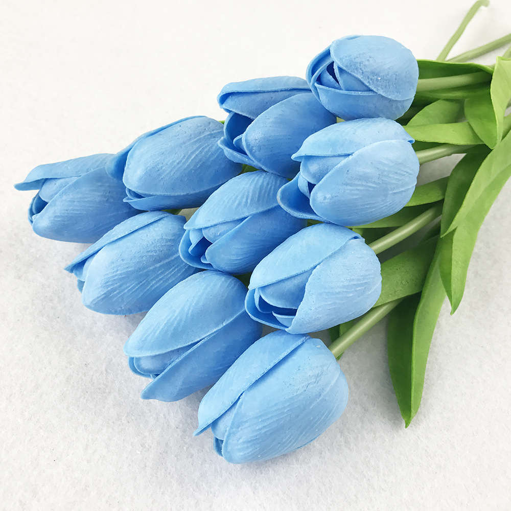 10PcsBag PU Holland Mini Tulip Artificial Flower Real Touch Tulip for Wedding,Home,Hotel,Party Decoration Valentine's Day Gift (21)