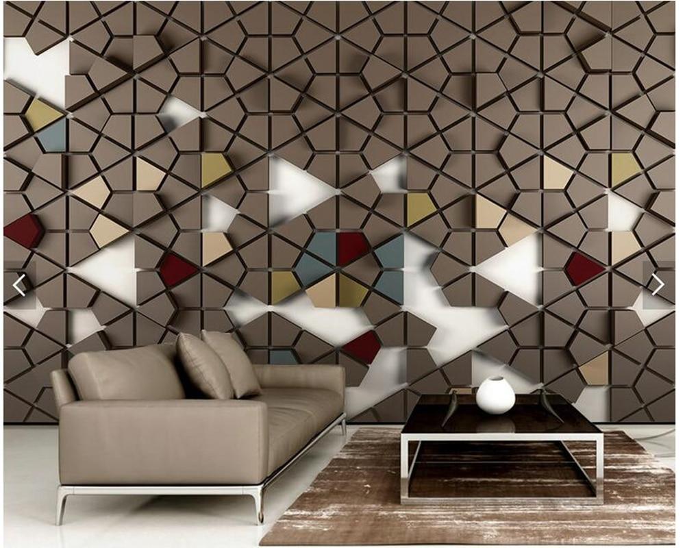 Custom wallpaper 3d stereoscopic, polygon tile wallpaper murals for living room bedroom tv backdrop wall home decor wallpaper<br>