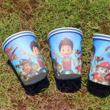 10pcs Disposable Paper Cup Cartoon Pawed Patrolling Dog Kid Boy Birthday Party supplies 7.5cm*8.5cm*5cm(China)