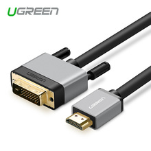 Ugreen HDMI to DVI DVI-D 24+1 pin adapter cables 3D1080p for LCD DVD HDTV XBOX PS3 free shipping High speed hdmi cable 2m 3m 5m(China)