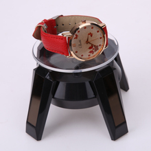 4.5 circles/min Solar Powered 360 Degree Jewelry Rotating Display Stand For mobile phones/MP4/watches Turn Table Light