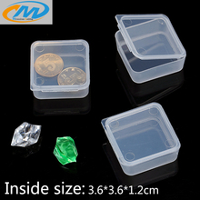Free shipping Wholesale PP small plastic box for coins jewelry Finishing box organizer Square parts opbergdoos storage boxes