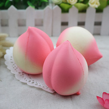 1 x Simulation Peaches Gags Mobile Phone Straps Slow Rising Foam Gift Fun Squishy Key Chain Phone Decoration P30(China)