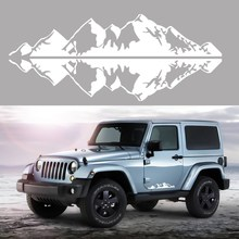 Car Truck Black White Mountain Range Sticker Vinyl Decals Graphics For Jeep