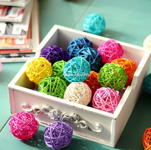 1pc Rattan Wicker Cane 5cm Rattan Ball for Garden Patio,Wedding,Party decoration, DIY for Thailand style string lights(China)
