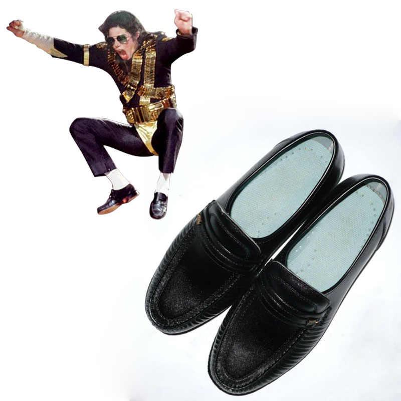 c6b13adcd85 Deluxe Michael Jackson Billie jean Cosplay zapatos Michael Jackson  rendimiento zapatos de baile zapatos L0713