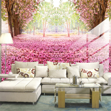 beibehang 3d waterproof Large bedroom living room TV backdrop mural wallpaper Kapok cherry Wallpapers papel de parede wall(China)