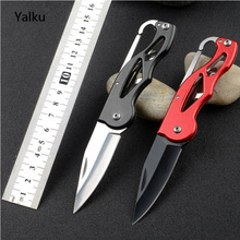 Protable Pocket Knife Folding Fold Hunting Camping Tactical Rescue Survival Key Ring Keychain Mini Peeler Outdoor Survival Tool(China)