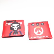 china wholesale site game overwatch reaper Genji Tracerwallets pu leather purse money tray for sale student wallet overwatch(China)