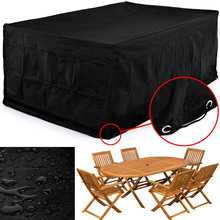 123*123*74CM Waterproof Dustproof Furniture Cover breathable Garden Rectangular Outdoor Furniture Waterproof Cover(China)