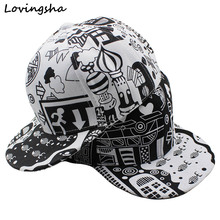 LOVINGSHA Doodle Design 3-8 Years Old Kid Snapback Caps Girl Baseball Caps High Qaulity Adjustable Cap For Boy CC107