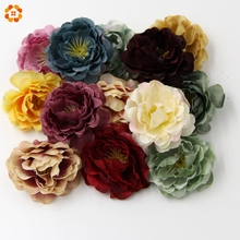 20PCS DIY High Quality Artificial Silk Flowers Head For Home Wedding Party Decoration Wreath Gift Box Scrapbooking Fake Flowers(China)