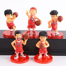 5 Pcs/Set 8 CM Sakuragi Rukawa Japanese Anime Slam Dunk PVC Action Figures Cartoon Basketball Team Model Kids Boys Toys Gifts(China)