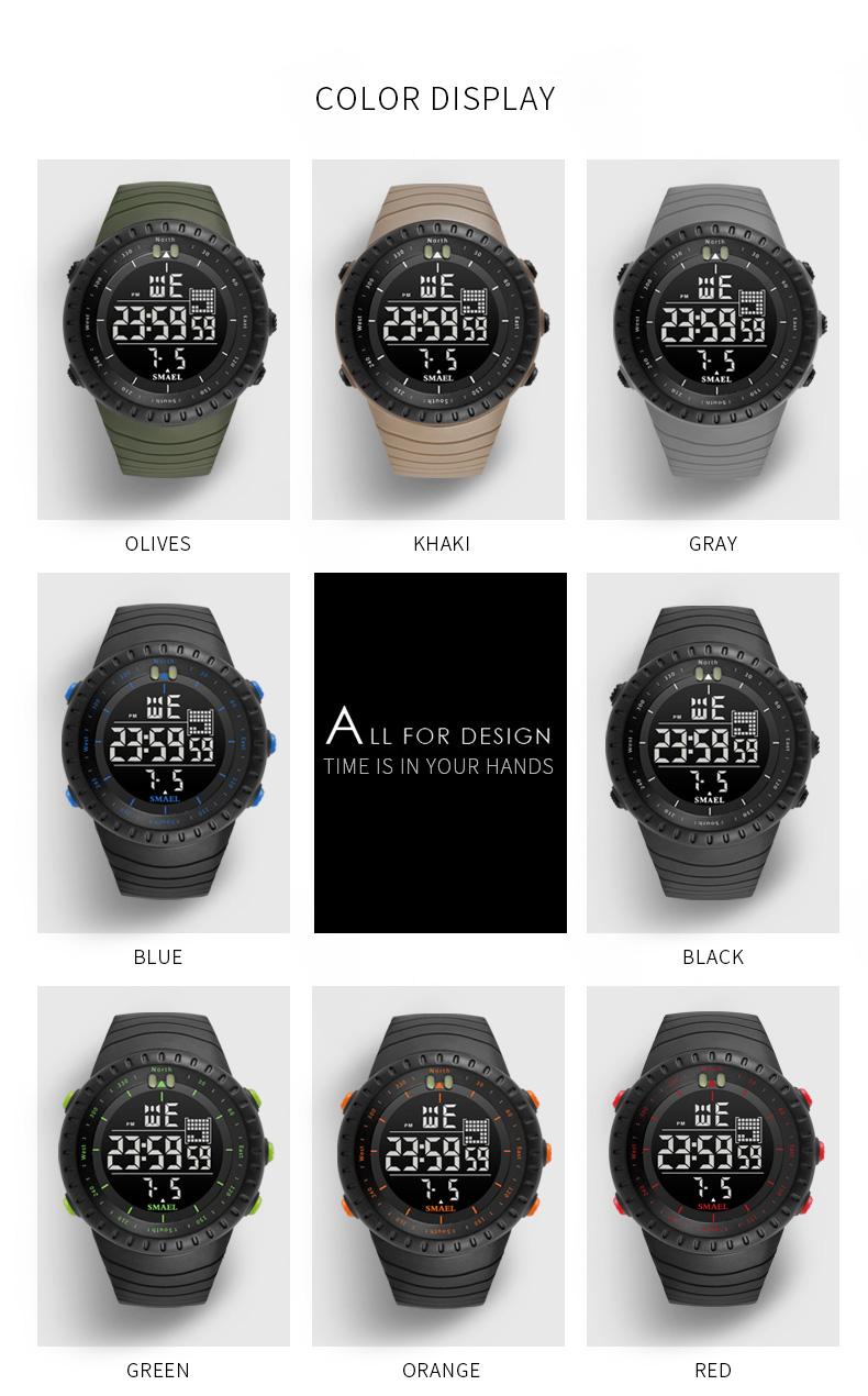 11.led watch waterproof
