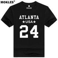 DEVONTA FREEMAN 24 atlanta custom made name number t shirt baxley georgia t-shirt team usa blue florida print text word clothing(China)