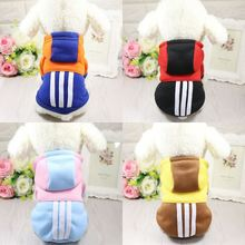New Stripe Pet Costume Autumn and Winter Dog Clothes Brand Small Dog Coat for Cats Chihuahua XS S M L XL XXL Pet Supplies S167