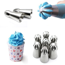 1pc Stainless Steel Bakeware Sphere Ball Shape Cream Icing Piping Nozzles Pastry Tips Cupcake Buttercream Bake Tool