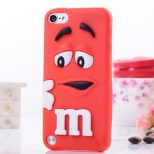 Fragrance M&M'S Chocolate 3D Cartoon Candy Colorful Rainbow Beans Soft Rubber Silicone  Case Cover for Apple iPod Touch 5 5G