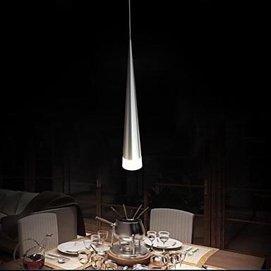 Free shipping. LED  Modern Aluminum Pendant Light, 1 Light, Transparent Acrylic Metal Plating,110V-240V<br>
