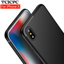 TCICPC For iphone X case iphone 10 case cover Luxury ultra thin soft silicone TPU back cover case for iphone X edition iphoneX