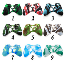 NEW Silicon 2016 NEW Camouflage Protective Skin 9 Color Case Cover for Xbox 360 Game Controller 9 colors