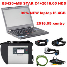 MB Star C4 SD Connect + E6420 + HDD + Case Mercedes Diagnosis Xentry Diagnostics Compact 4 Multiplexer For Benz Diagnose Win 7