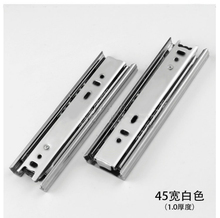 "4 6 8"" Mini Short Drawer Slides Furniture Guide Rail Small Track Wardrobe Kitchen Cupboard Drawer Slide Hardware Accessory 45mm(China)"