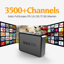 HD mag 250 iptv set top box europe Linux Media Player Arabic Channels IPTV Subscription 1 year French Italian portuga Smart STB