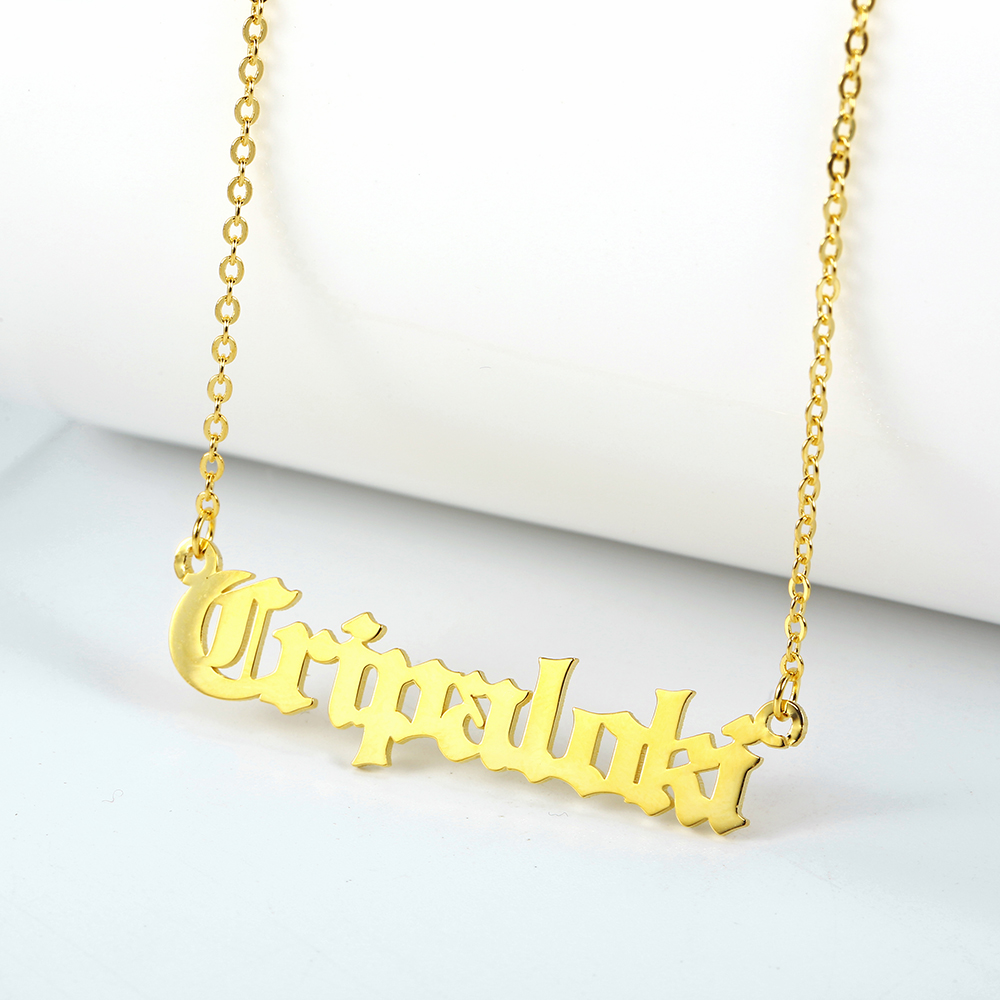 Custom Personalized Name Necklaces Women Necklace & Pendant Stainless Steel Nameplate Necklace Mom Gift Dropshipping (2)