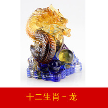 Zodiac Long glass ornaments creative birthday gift factory direct furniture lettering animal Jushi store