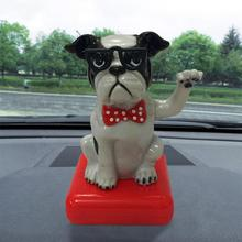 Fashion Solar Powered Dancing High Quality Car Decoration Accessories Animal Swinging Animated Bobble Dancer Toy Car Decor New(China)