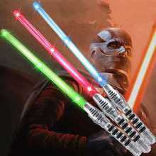 1 piece Cosplay toy Star Wars Lightsaber Sound Light Sword Toy Light saber  Battle game  Telescopic Sword