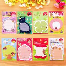 3 Piece Lytwtw's New Korean Kawaii Memo Stickers Sticky Notes Message Pad Cute Animal Post it Diy Office School Stationery