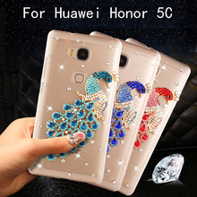 "Buy Honor 5C (NEM-L51) Case Bling bling diamond peacock transparent hard case Huawei Honor 5C/Huawei GT3/ (Honor 7 Lite) 5.2"" for $3.95 in AliExpress store"