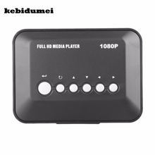 kebidumei 1080P HD Media player SD/MMC TV Videos SD MMC RMVB MP3 Multi TV USB HDMI Media Player Box Support USB Hard Disk drive(China)