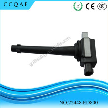 High quality Ignition Coil 22448-ED800 For Nissan Sentra 2.0L Micra March Note X-Trail Tiida