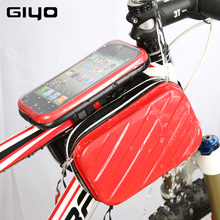 "Giyo Bicycle Bag 4.7-5.5"" Phone Case Storage Bag For Bike Touch Screen Cycling Bicycle Front Frame Top Tube Carrier Saddle Bags"
