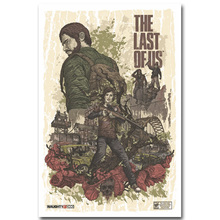 The Last Of Us Art Silk Fabric Poster Print 13x20 24x36 inch Vedio Game Pictures for Living Room Wall Decor Joel Ellie 010(China)
