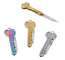 Mini Key Knife Letter Camp Outdoor Keyring Ring Keychain Fold Open Opener Pocket Package Survive gadget Multi Tool Blade Box kit