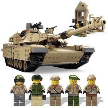 2017 Kazi Technologie Éclairant Jouets Super Gun Arme HUMMER Réservoir Modèle Blocs de Construction Militaire Miniatures Briques Compatible