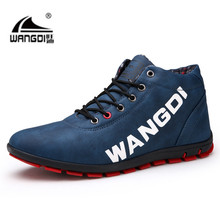 2018 Newly Man Ankle Shoes Spring Autumn Waterproof Cloth PU Leather Shoes Cloth Inner Anti-slip Shoes Man Boots(China)