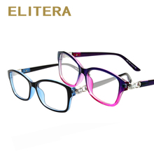ELITERA 2017 New Brand Crystal connection Women men Glasses frame Optical Eyeglasses Myopic Frame Women elegant Frame Wholesale(China)