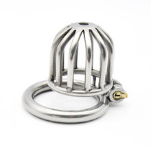 Buy High quality adult games Male Chastity Device Cock Cage Real Stainless steel chastity Belt Penis couples