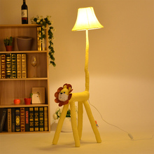 Monkey cartoon floor lights modern standing lamp lovely pastoral style living room for children's room decoration(China)