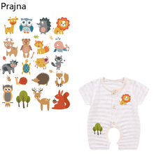 Prajna Kids Cartoon Patches Iron on Transfers For T shirt Baby Clothes Wholesale Heat Transfer Stickers Applique Decor Washable