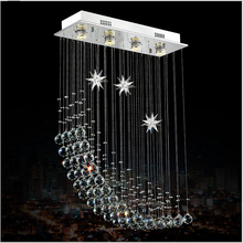 Modern fashion Square k9 crystal chandeliers LED crystal lamp modern LED Square restaurant chandeliers(China)